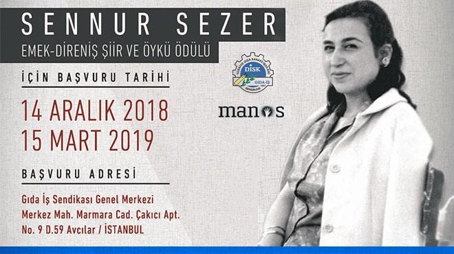 Sennur Sezer Emek-Direniş Şiir ve Öykü Ödülleri Başvuruları